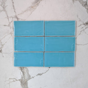Turquoise Moroccan Porcelain 150x75