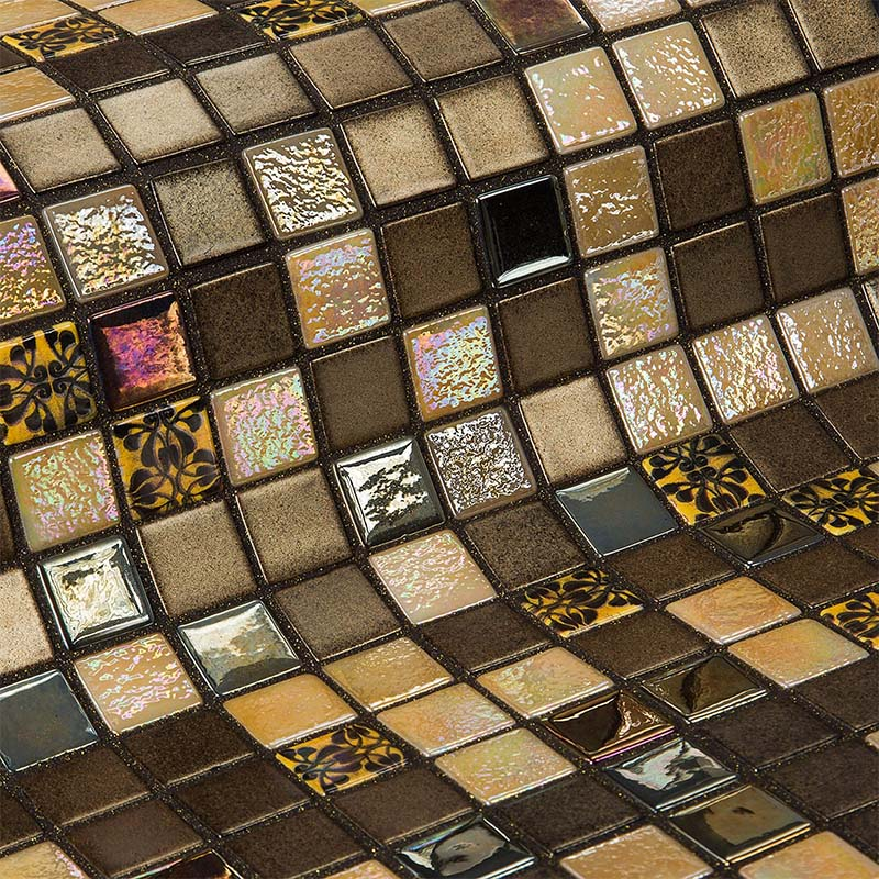 Topping Almond Glass Mosaic Pool Tile