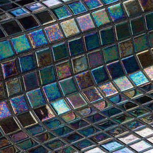 Iris Ebano Glass Mosaic Pool Tile