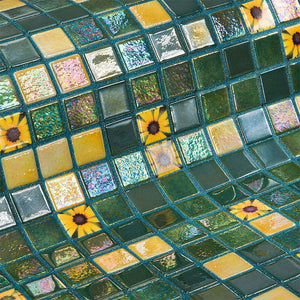Topping Marigold Glass Mosaic Pool Tile