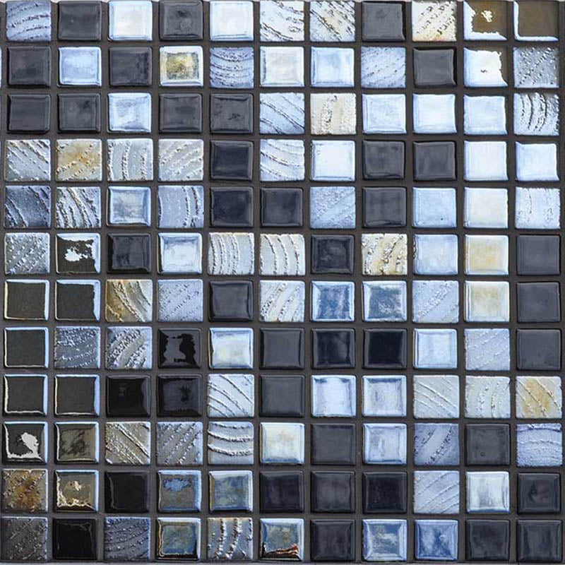 AUS Black Russian Glass Mosaic Pool Tile