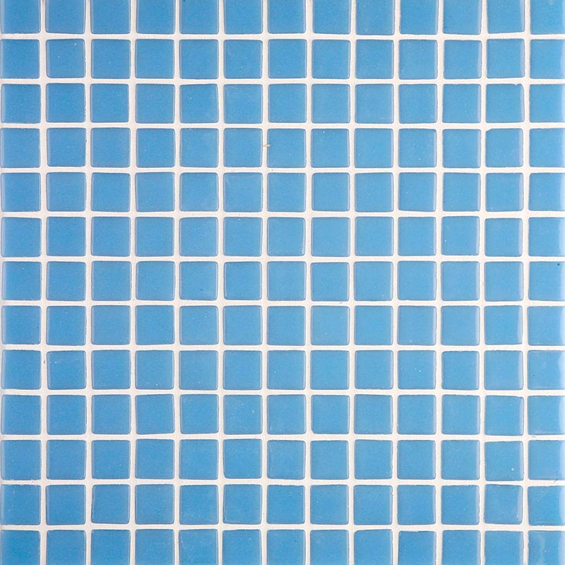 Lisa 2535-A Pale Blue Glass Mosaic Pool Tile
