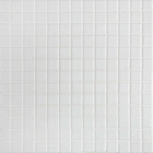 Lisa 2545-A White Glass Mosaic Pool Tile