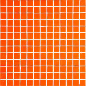 Lisa 2538-D Orange Glass Mosaic Pool Tile