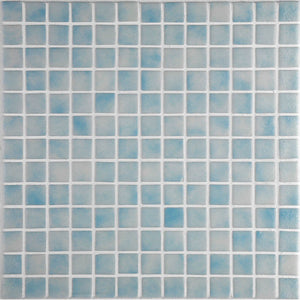 Niebla 2521-B Pale Blue Glass Mosaic Pool Tile