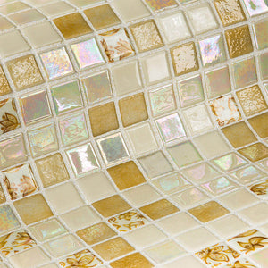 Topping Leaves Glass Mosaic Pool Tile
