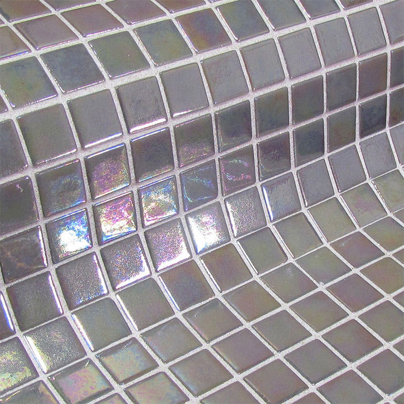 Fosfo Grey Iris Glass Mosaic Pool Tile