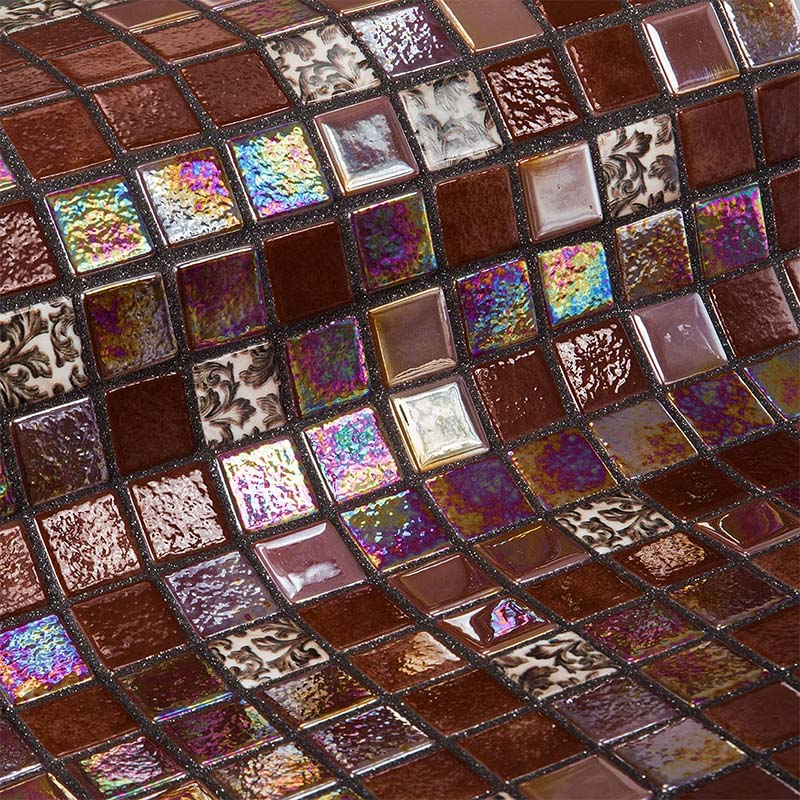 Topping Choco Bits Glass Mosaic Pool Tile