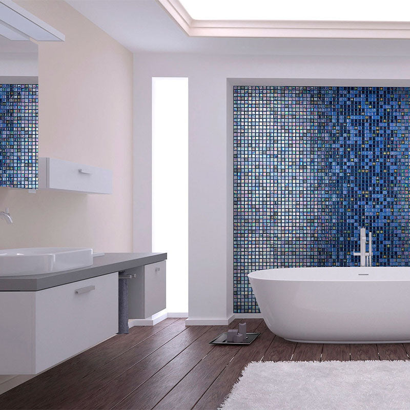 Topping Grapes Glass Mosaic Pool Tile