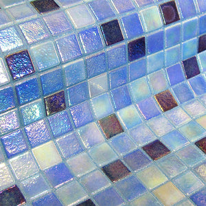Fosfo Delphinus Glass Mosaic Pool Tile