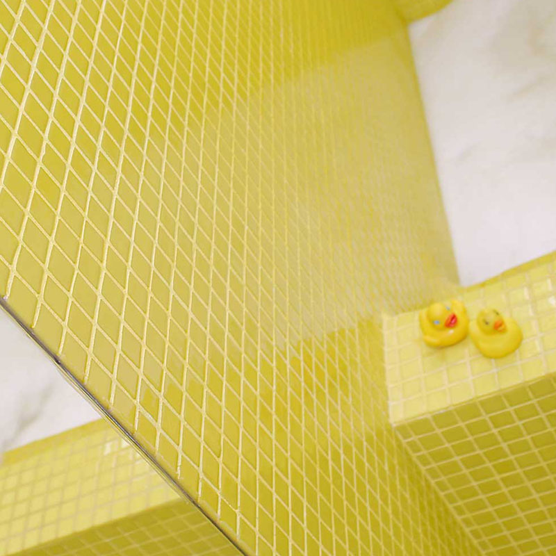 Lisa 2554-C Lemon Yellow Glass Mosaic Pool Tile