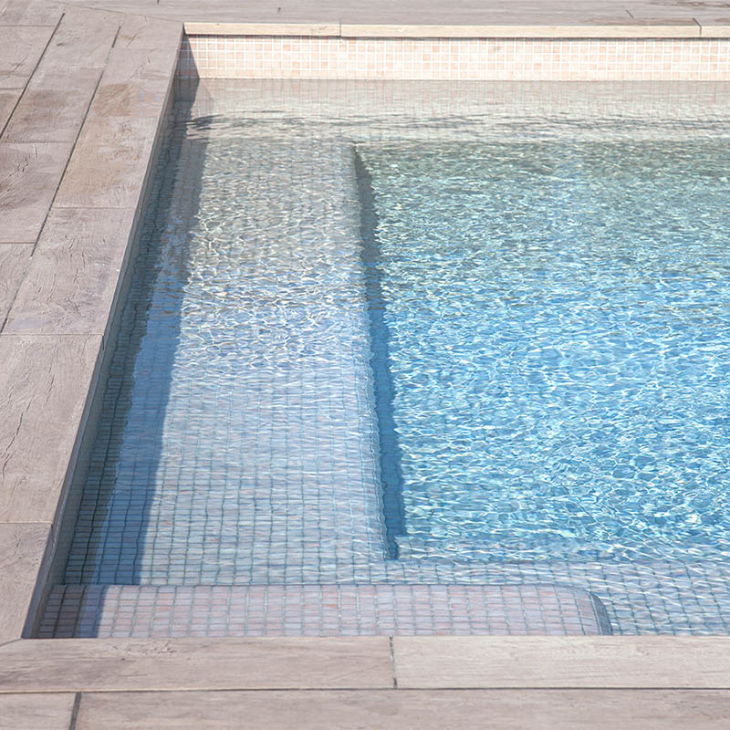Niebla 2564-B Pale Pink Glass Mosaic Pool Tile