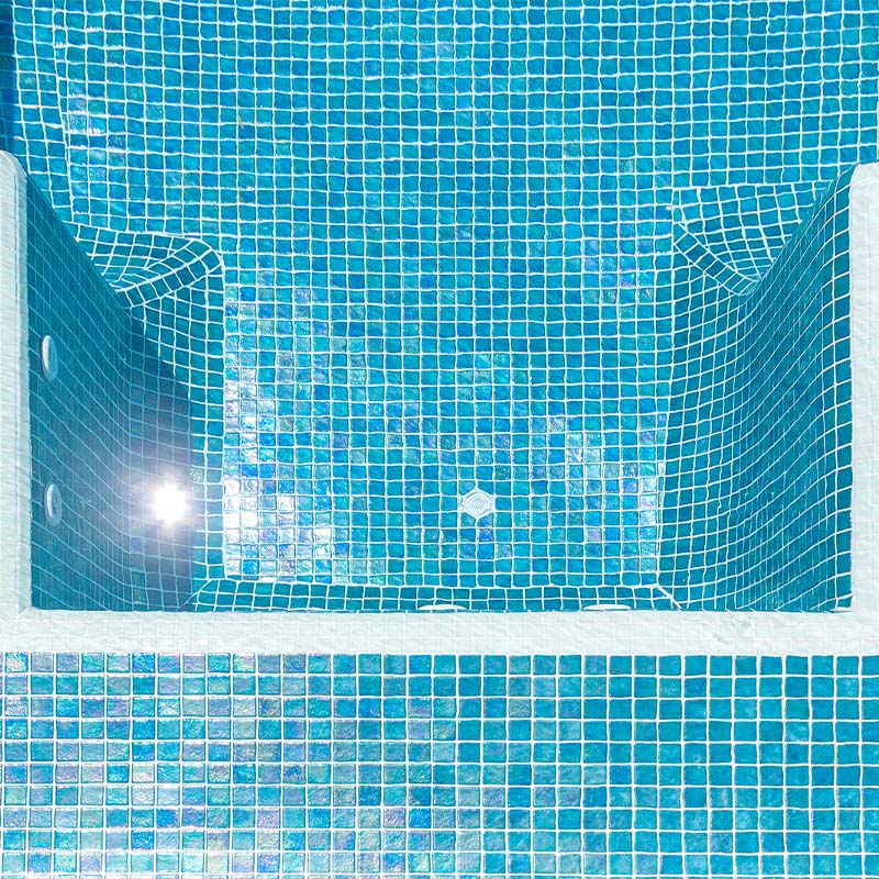 Iris Jade Glass Mosaic Pool Tile