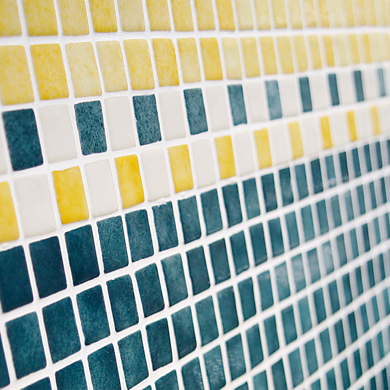 Niebla 2525-B Yellow Glass Mosaic Pool Tile