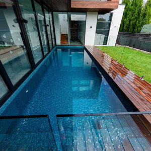 AUS Emerald Glass Mosaic Pool Tile