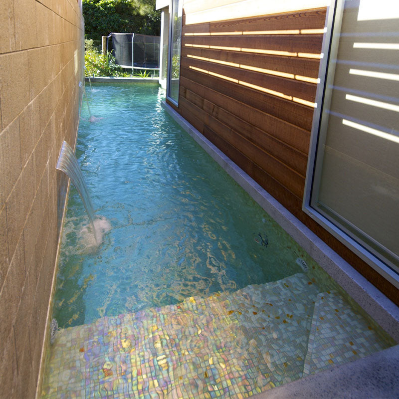 Cocktail Bellini Glass Mosaic Pool Tile