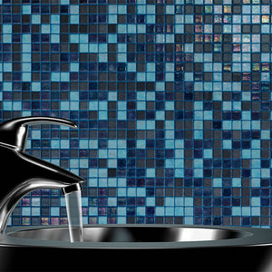 Cocktail Blue Lagoon Glass Mosaic Pool Tile