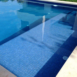 Zen Blue Stone Glass Mosaic Pool Tile