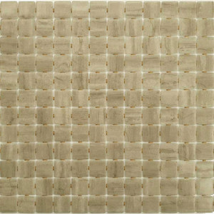 Zen Creamstone Glass Mosaic Pool Tile