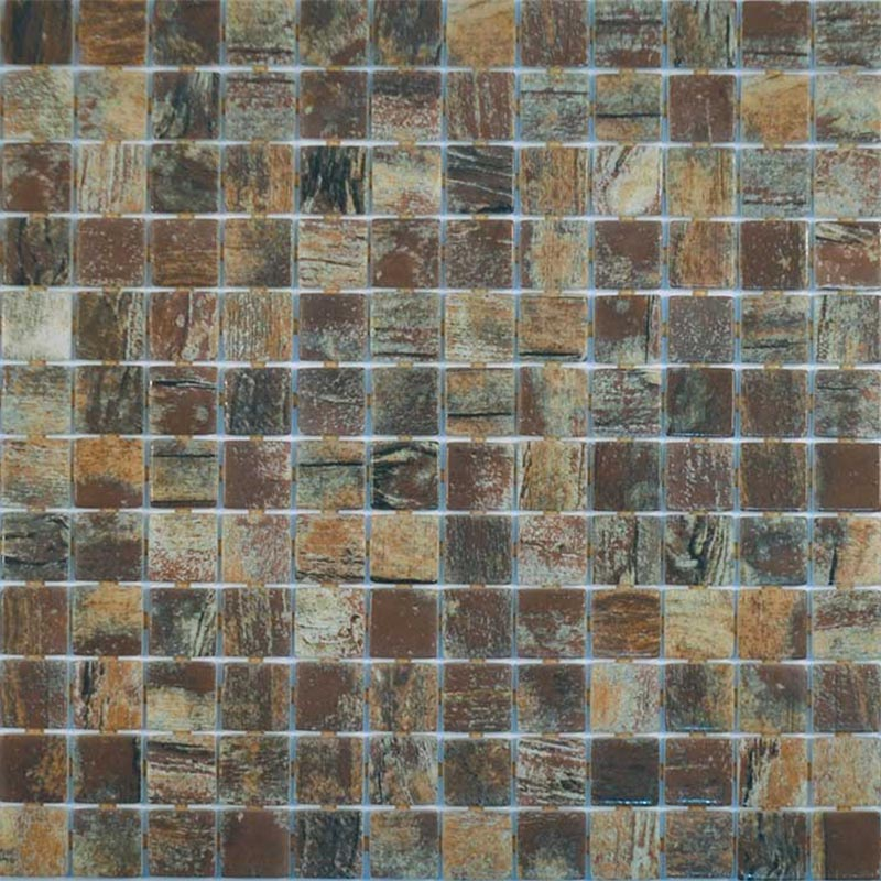 Zen Rustic Glass Mosaic Pool Tile