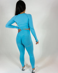 PRF8™ X AN Seamless Long-sleeve Crop-Top