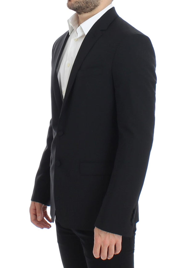 Dolce & Gabbana-Black wool stretch MARTINI blazer-Luxuryce