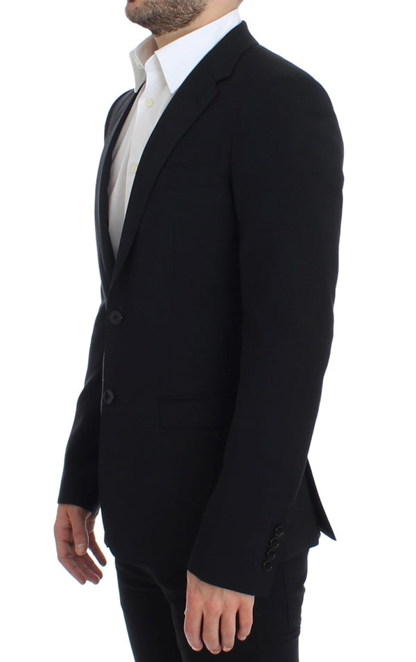 Dolce & Gabbana-Black wool slim fit blazer-Luxuryce