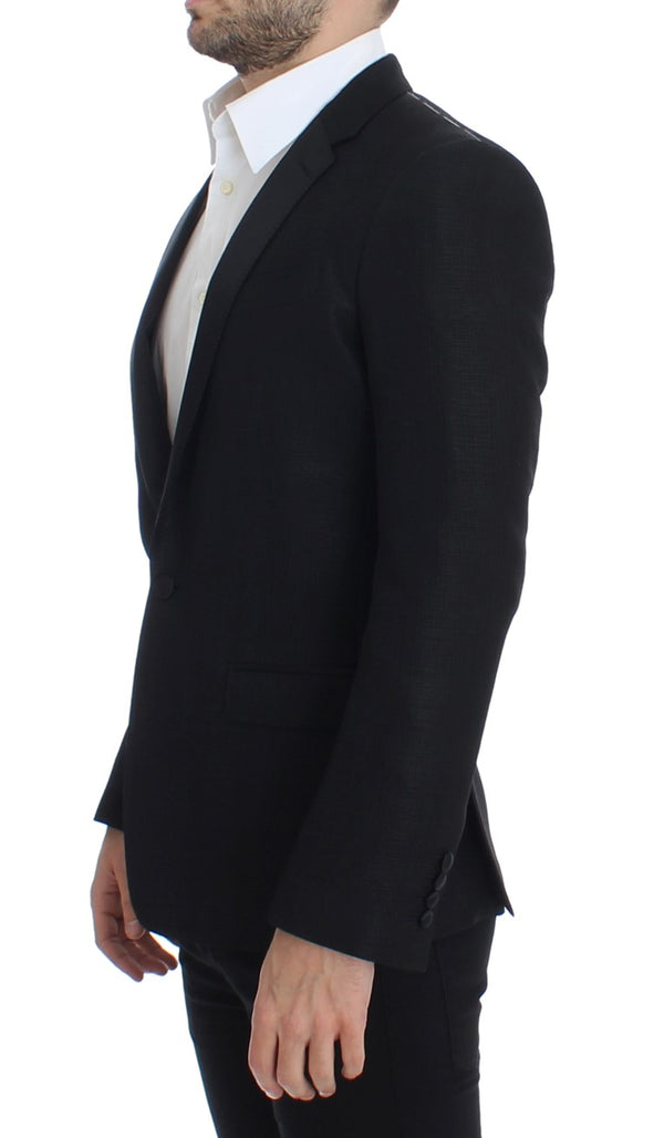 Dolce & Gabbana-Black wool MARTINI slim blazer-Luxuryce
