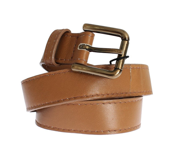 Dolce & Gabbana-Brown leather belt-Luxuryce