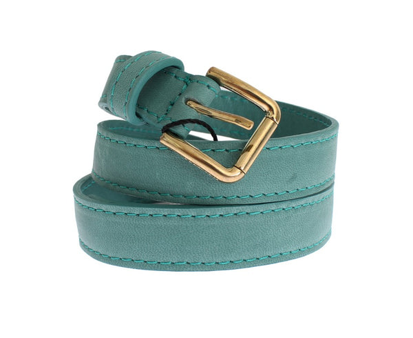 Dolce & Gabbana-Green leather belt-Luxuryce