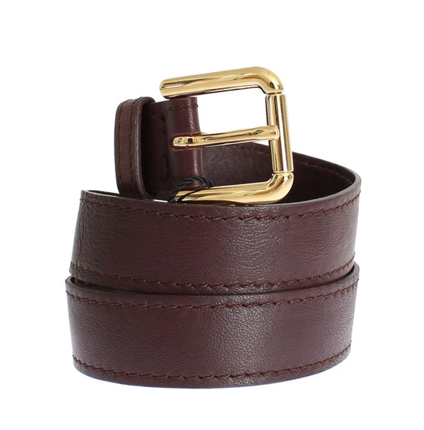 Dolce & Gabbana-Purple leather belt-Luxuryce