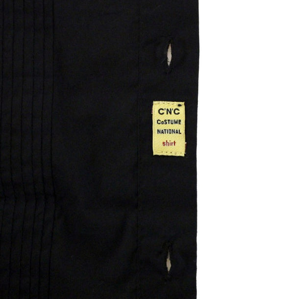 Costume National-Black cotton slim fit shirt-Luxuryce