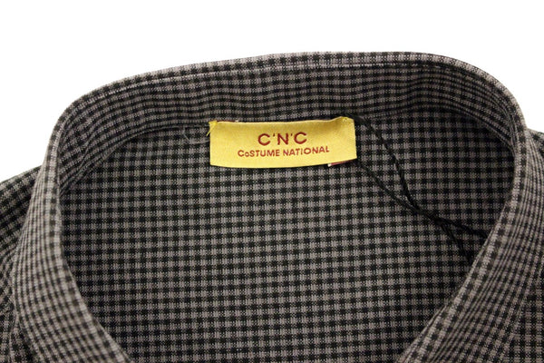 Costume National-Gray linen casual shirt-Luxuryce