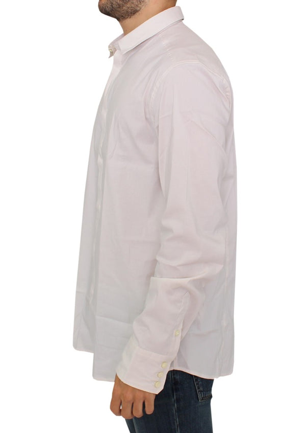 Costume National-White cotton dress shirt-Luxuryce