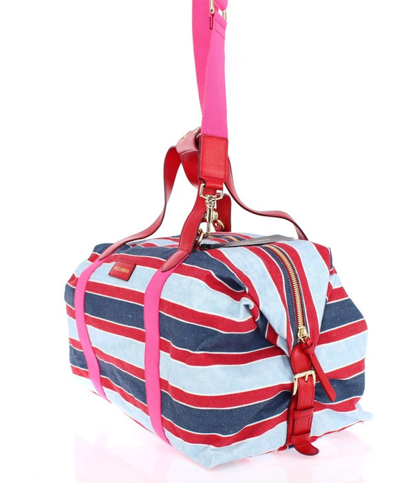 Dolce & Gabbana-Multicolor striped boston bag-Luxuryce