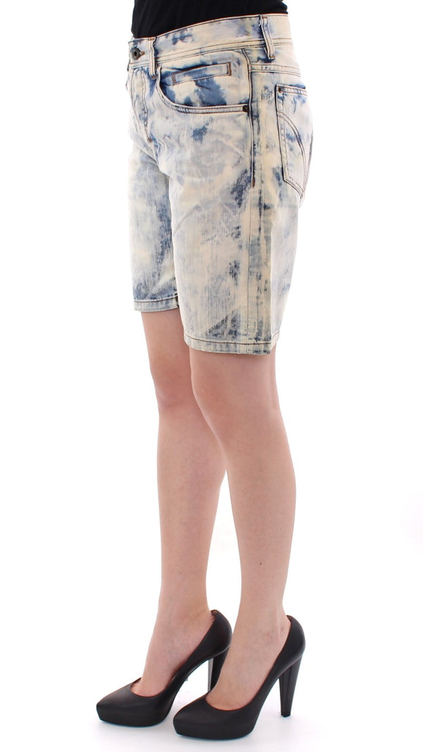 Dolce & Gabbana-Blue cotton washed jeans shorts-Luxuryce