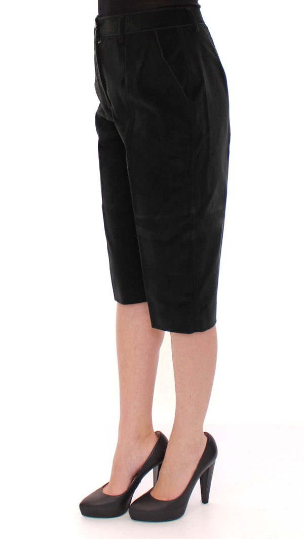 Dolce & Gabbana-Black cotton shorts pants-Luxuryce