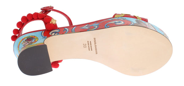 Dolce & Gabbana-Multicolor Handpainted Carretto Platform Heel-Luxuryce