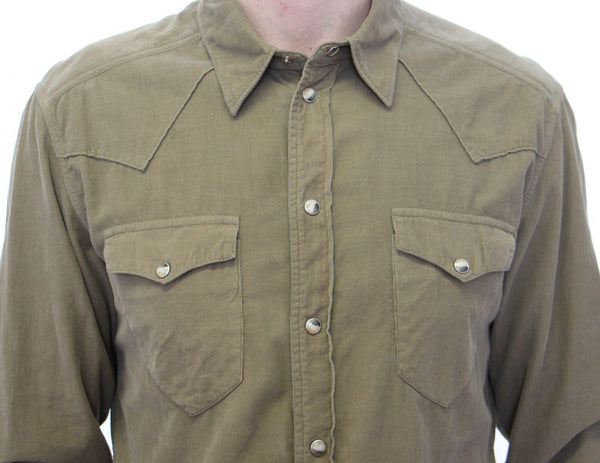 Dolce & Gabbana-Exclusive Green Manchester Sicilia Casual Shirt-Luxuryce