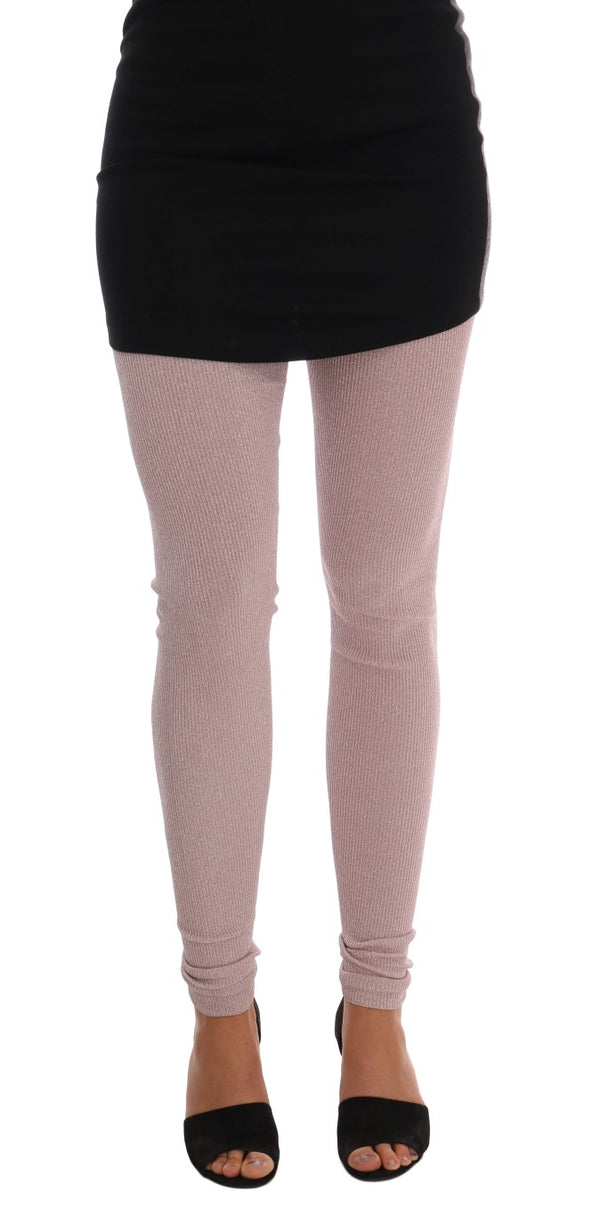 Dolce & Gabbana-Pink Stretch Waist Tights Stockings-Luxuryce