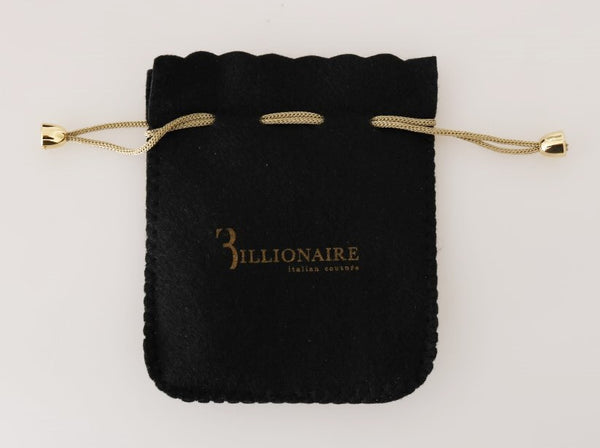 Billionaire Italian Couture-Black Leather Bifold Wallet-Luxuryce