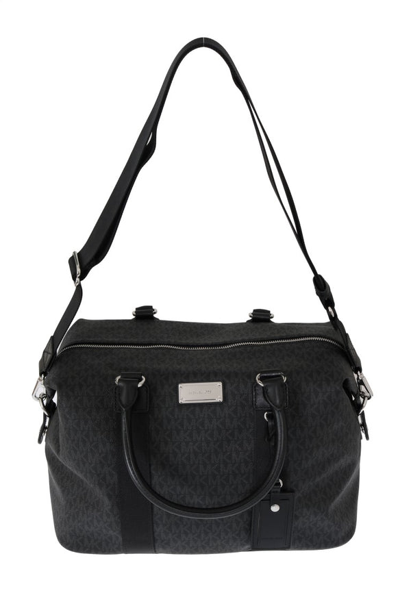 Michael Kors-Black TRAVEL Canvas Weekendbag-Luxuryce