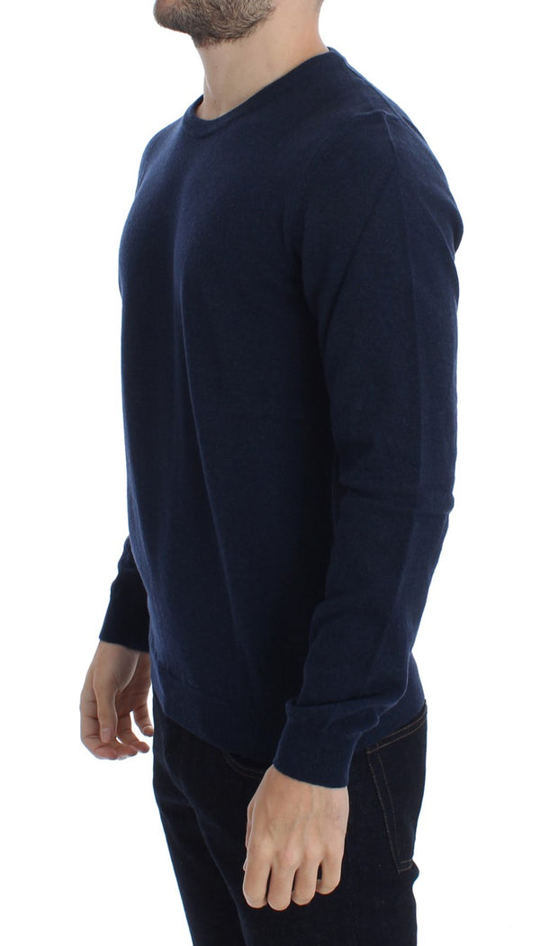 Costume National-Blue Wool Crewneck Pullover Sweater-Luxuryce