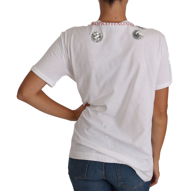 Dolce & Gabbana-White MILANO Blouse Top T-shirt-Luxuryce