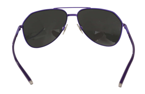 Dolce & Gabbana-Purple Aviator DG2094 Pilot Gray Lenses Sunglasses-Luxuryce