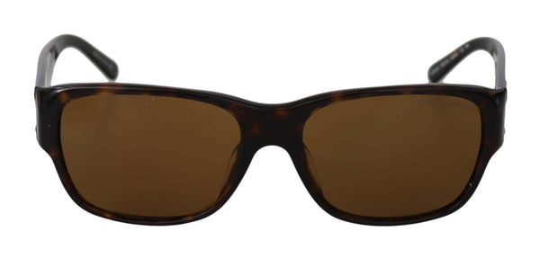 Dolce & Gabbana-Brown Rectangle DG4025 Havana Mens Sunglasses-Luxuryce