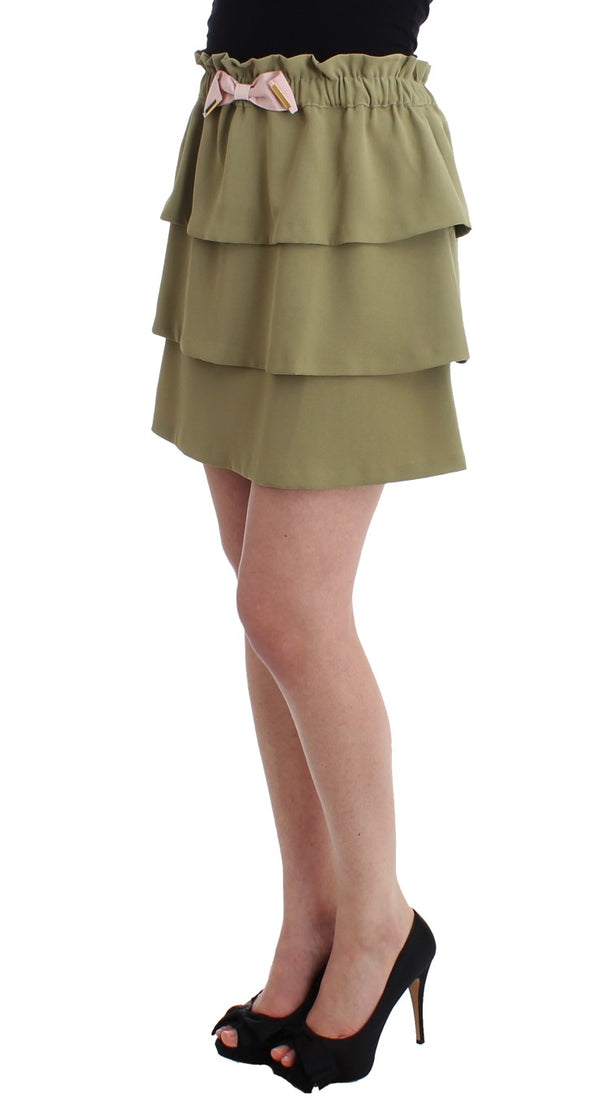 Cavalli-Green mini skirt-Luxuryce
