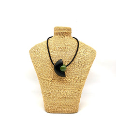Ceramic on Rubber Necklace