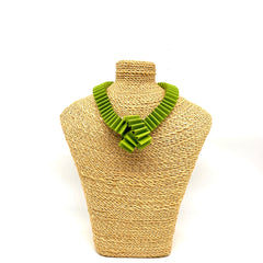 Matte Paper knot necklace