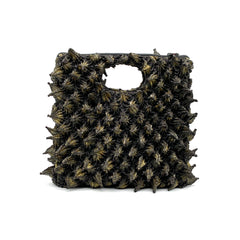 Shibori Fabric Zipper Handbag